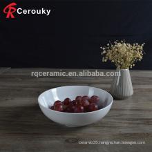 Hot selling white blank porcelain ceramic soup bowl