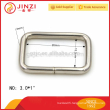 plain style 3mm wire diameter 26mm wide square buckle