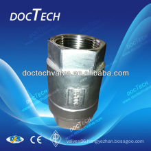 "DN15 1/2"" CF8 1000WOG spring type one way valve,Stainless steel check valve China Distributor"