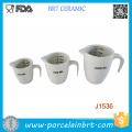 High Quality White 1000ml 500ml Porcelain Measuring Jug