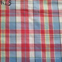 Tela teñida hilado del popelín de algodón 100% para las camisas / el vestido Rls32-8