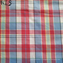 100% tissu tissé de fil de popeline de coton teint pour des chemises / robe Rls32-8