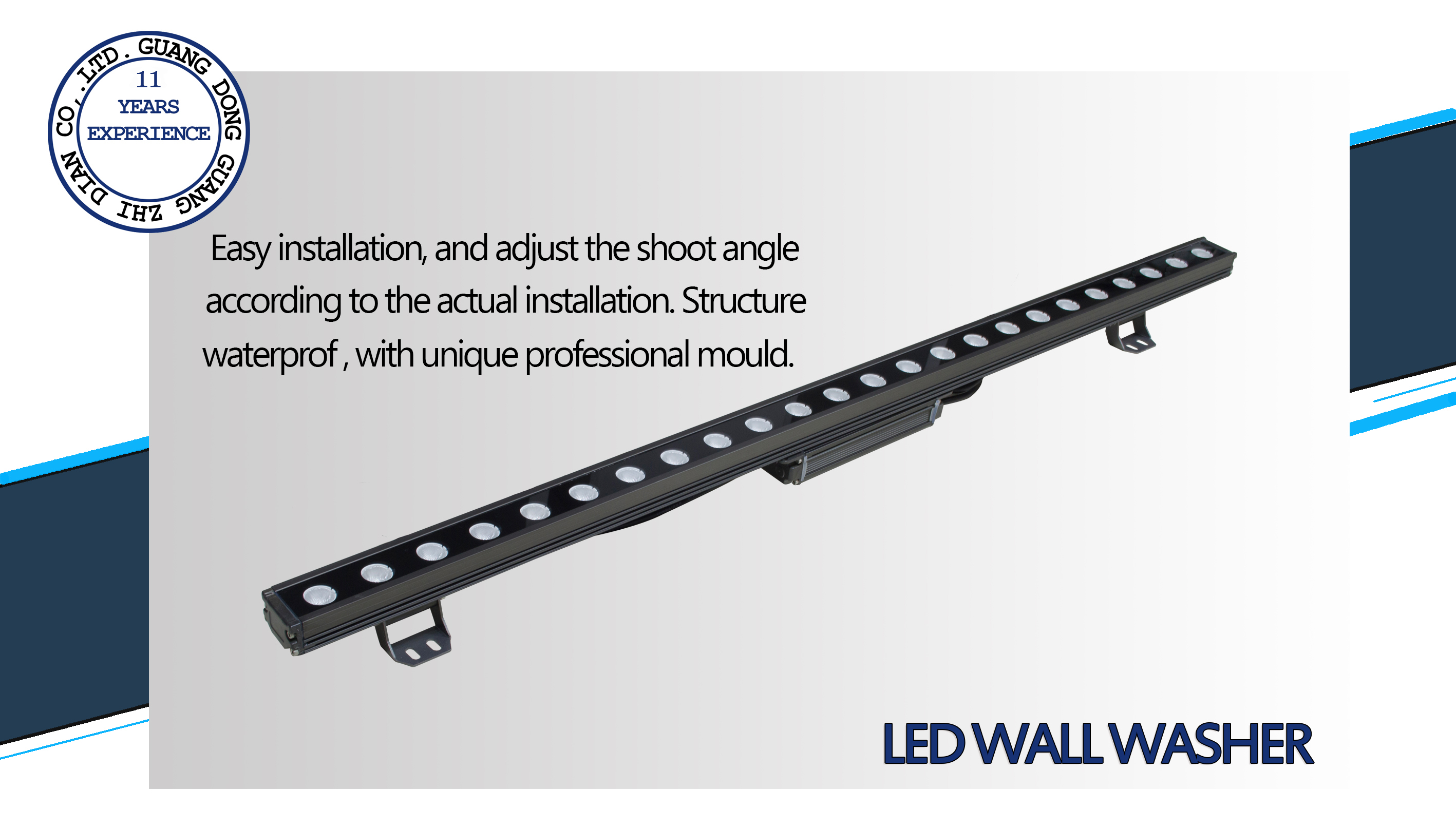 36W led wall wash light