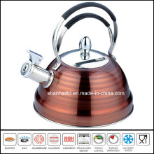 Stainless Steel Full Color Painted Whistle Kettle