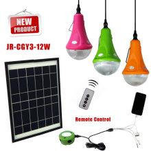 Домашнего использования высокого качества 12W панели солнечных батарей/3 * 3w светодиодные лампы солнечной системы питания