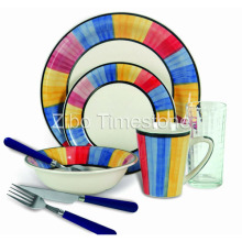32PCS Home Value Plus Steingut Geschirr Set (32012)