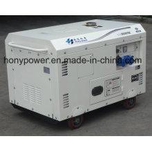 Gerador diesel silencioso refrigerado a ar do poder de Dg6500se para o uso industrial