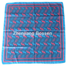 OEM Produce Customized Design Impresso Promocional Satin Silk Like Square Scarf