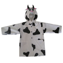 PU Rainwear with Dairy cow Design