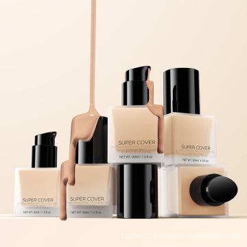 Private Label Luxury Liquid Foundation Bottle Natural Vegan Waterproof Matte Foundation Makeup