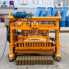 low cost easy operated QT4-30A movable  manual concrete block making machine interlocking machine