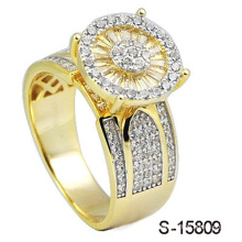14k Gold Plated Jewelry Ring Silver 925