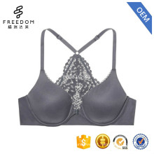 Stylish new design sexy V neck open cup racerback support back design women bra in photos