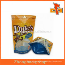 Laminiertes Material und excelent Druck Kunststoff Hund behandeln Tasche / Hund Lebensmittel Verpackung Tasche mit Reißverschluss