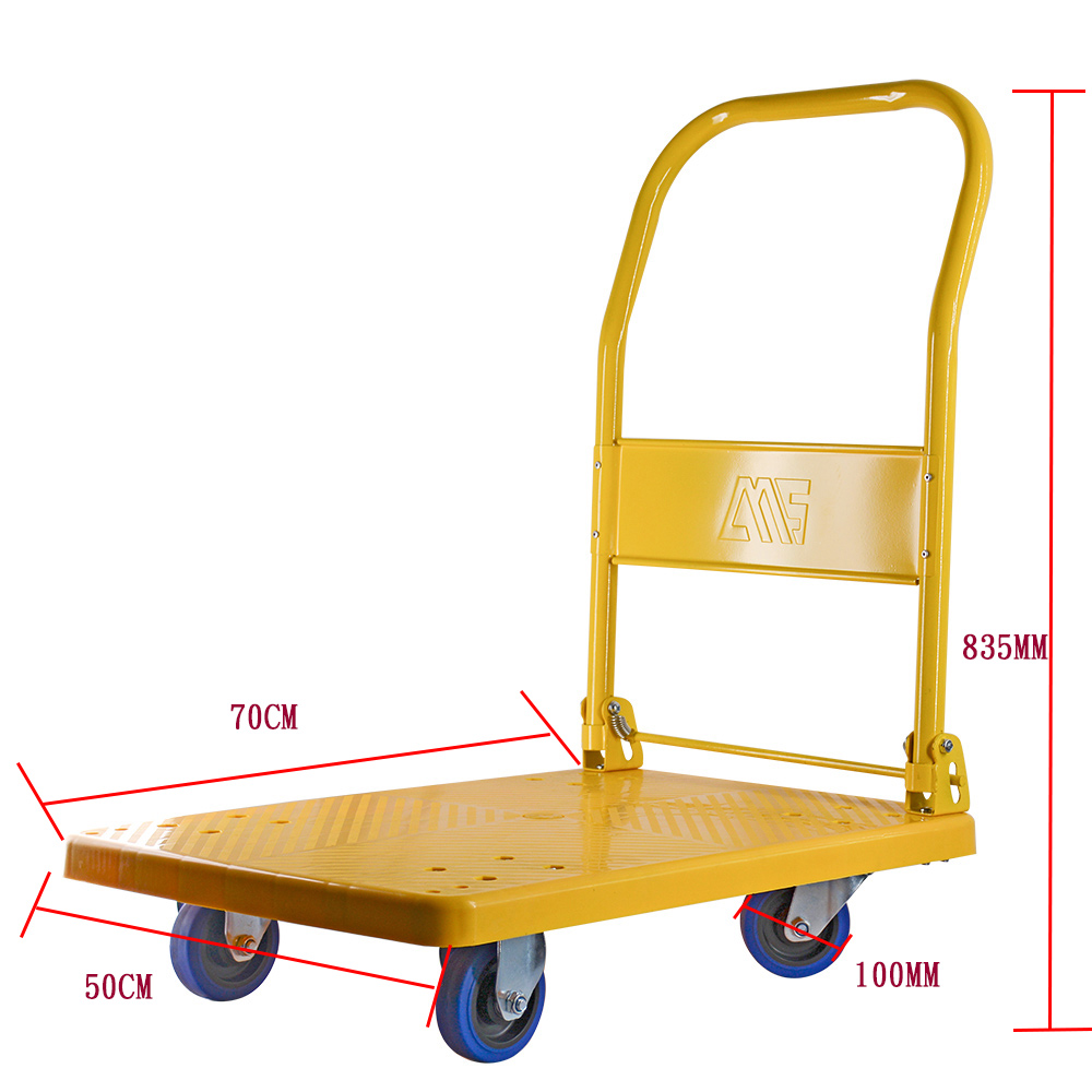 Yellow Folding Platform Trolleys