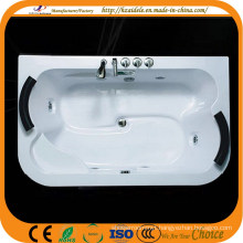 Left and Right Pillow Acrylic Big Massage Bathtub (CL-337)
