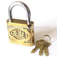 Hohe Sicherheit Yalian Marke goldene Farbe Sicherheit niedlich billig Gusseisen Vorhängeschloss
