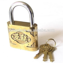 Haute sécurité Yalian Marque Golden Color Safety Cute Cheap Iron Iron Padlock