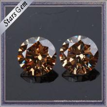 Блеск Бриллиантовая огранка шампанского CZ драгоценный камень для ювелирных изделий