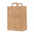 hot sale 120gsm browm kraft paper bag with handle