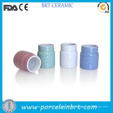 Wholesale Color Small Storage Ceramic Mason Jar