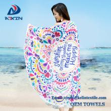 2017 Super cool Turkish design round beach towel with tassels for shawl 2017 Super cool Turkish design round beach towel with tassels for shawl