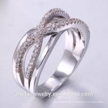 China Fabrik direkt Großhandel Schmuck 925 Silber Ring