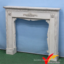 Shabby Chic Vintage Indoor Freestanding Decoritive Fireplace, Antique Mantel