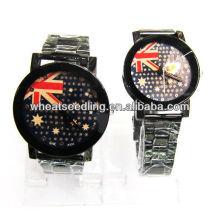 Relógio de pulso do projeto da bandeira BRITÂNICO para o amante JW-13