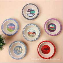 (BC-B1045) Hot-Sell Natural Bamboo Fiber Tableware Baby Bowl