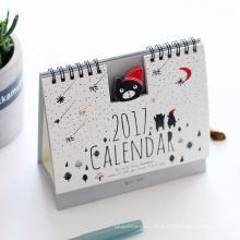 2017 bunte Cartoon benutzerdefinierte Tischkalender Drucken