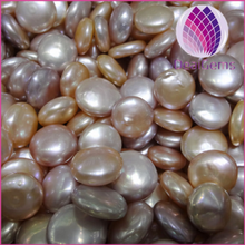 Hot selling loose freshwater button pearl no hole loose pearl for jewelry necklace wholesale