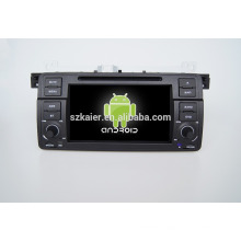 Quad core!car dvd with mirror link/DVR/TPMS/OBD2 for 7inch touch screen quad core 4.4 Android system E46