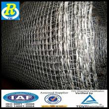 Una malla de alambre cuadrada galvanizada