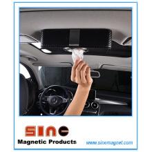 Boîte de tissu magnétique en cuir PU Fashion pour voiture