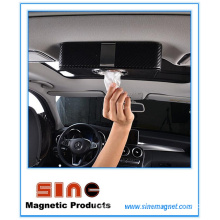 Fashion PU Leather Magnetic Tissue Box for Car