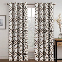 Cortina de ilhós para cortinas de poliéster com impressão blackout de têxteis