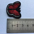 Red butterfly embroidered clothes patch accessories custom