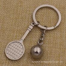 Metall Schlüsselanhänger Mini Form Tennis Schlüsselbund für Verkauf (KQ-20)