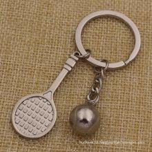 Metal Key Chain Mini Shape Tennis Keychain for Sale (KQ-20)