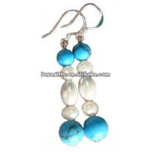 Boucles d'oreilles magnétiques en perles de perles d'hématite