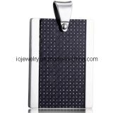 Black Square Shape Pendant Jewelry