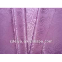 Tela de la ropa africana vendedora caliente Damasco Guinea Brocade 100% poliéster Bazin RicheCheap