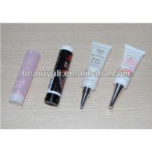 Embalagens cosméticas tubos de plástico com tampas metálicas de rosca