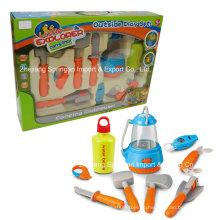 Boutique Playhouse Plastic Toy-Camping Set com faca multifuncional