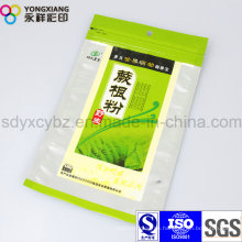 Ziplock Kunststoffverpackung Lebensmittelbeutel für Pulver