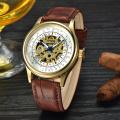 luxury minimalist oem automatic skeleton mechanical chronograph watches