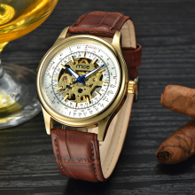 luxury minimalist oem automatic skeleton mechanical chronograph watches