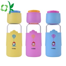 Popular Printed Logo Silicone Bottle Sleeve