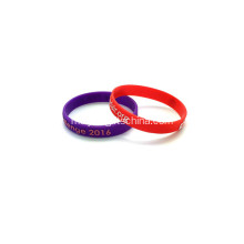 Promosi Embossed Bercetak silikon Wristbands-202 * 12 * 2mm